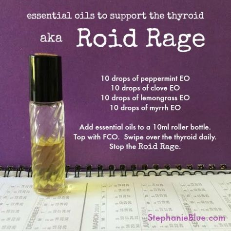 Essential oils to strengthen the thyroid. They totally work. Check out my website for more essential oil tips: www.StephanieBlue.com #aromatherapy #doTerra #diy
