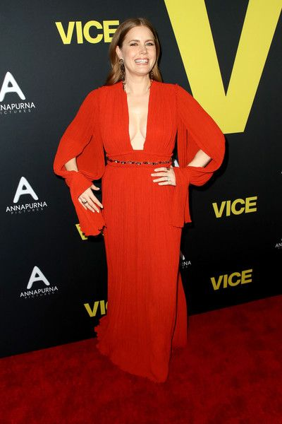 Amy Adams attends Annapurna Pictures, Gary Sanchez Productions and Plan B Entertainment's World Premiere of 'Vice' at AMPAS Samuel Goldwyn Theater.