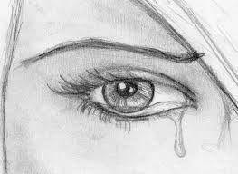 Eye Crying Drawing Step By Step