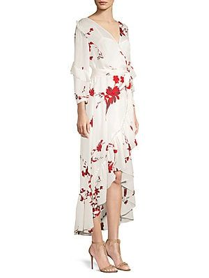 Joie Anawrette Silk Wrap Dress