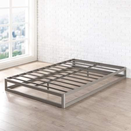 Mellow Ace Of Base 9 Inch Round Metal Platform Bed With Heavy Duty Steel Slats Champagne Grey Walmar In 2020 Metal Platform Bed Platform Bed Frame Steel Bed Frame