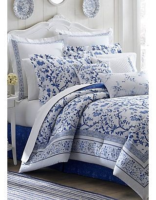 Pin On Bedding Pillows, Laura Ashley Charlotte Blue Bedding