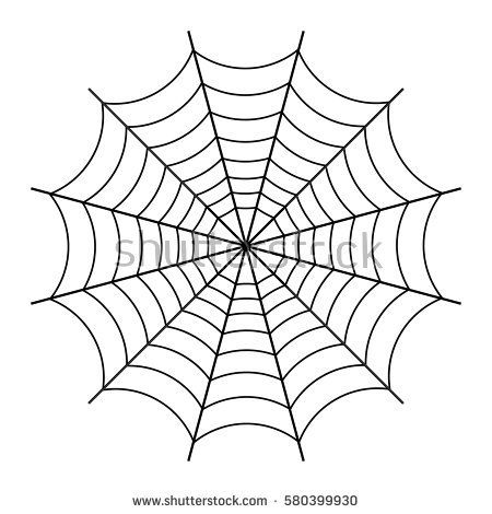 Image Result For Spider Outline Halloween Spider Web Spider Web