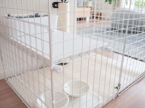 猫のケージを手作り 100均のワイヤーネットで簡単にdiyする方法 ウチブログ 猫 ケージ Diy 猫 ケージ 手作り 猫ケージ