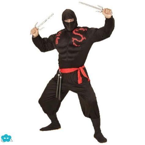 Disfraz de ninja musculoso talla grande para hombre