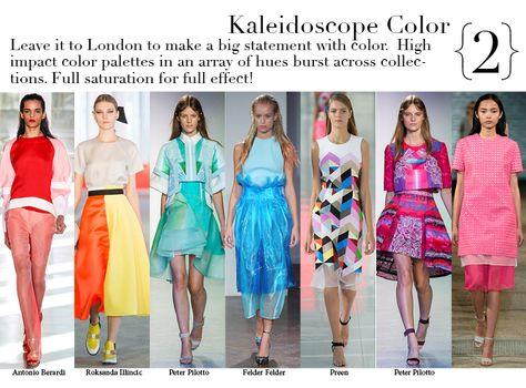 London Spring 2014 Top Trends - Kaleidoscope Color