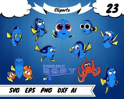 23 Finding Dory Clipart Dory Svg Dory Vector Dory Kids Dory Party Dory Decal Dory Vinyl Dory Decor Dory Prints Dory Printable Dory Birthday In 2020 Dory Prints Clip Art