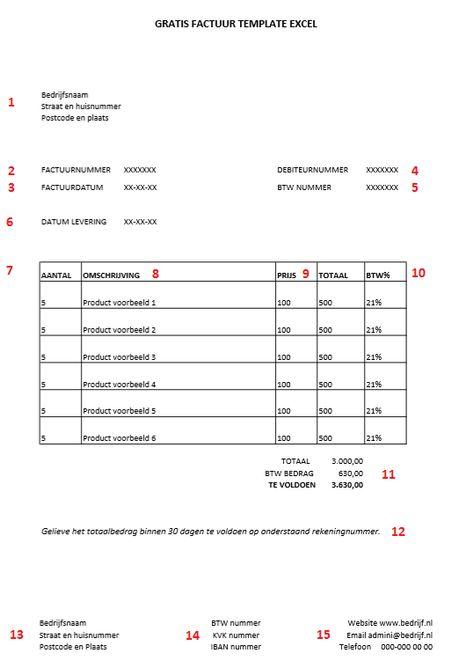 gratis factuur template excel, bekijk en download de voorbeeld