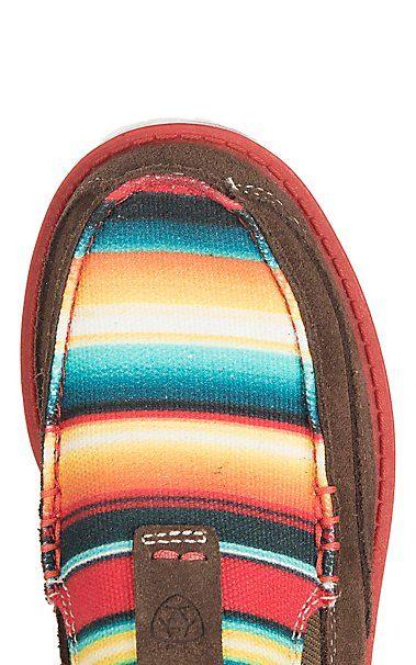 0fa1241e68157f Ariat Youth Brown with Serape Print Cruiser Casual Shoe