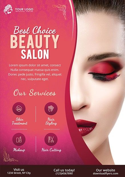 Download Free Beauty Salon Psd Flyer Template This Beauty Flyer Template Is A Unique Stylish Beauty Salon Price List Beauty Salon Posters Beauty Flyer Ideas