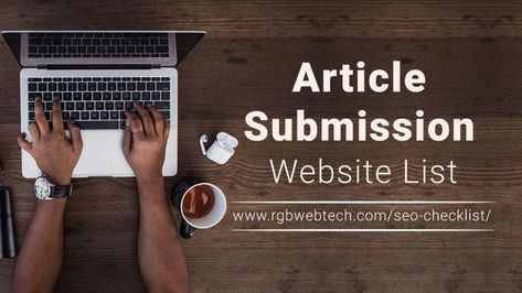 Article Submission Sites List for SEO