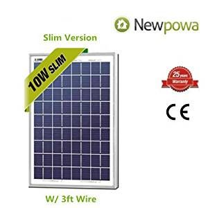 Newpowa 10 Watts 12 Volts Polycrystalline Solar Panel 10w 12v High Efficiency Module Rv Marine Boat Off Gri Solar Panels Solar Panel Kits Solar Panels For Sale