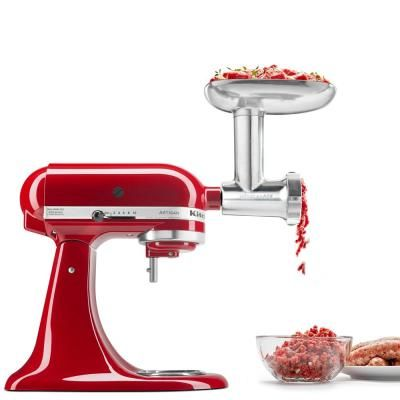 Kitchenaid Metal Food Grinder Attachment For Stand Mixer Grey
