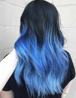 Blue Black Hair Mermaid Hair Color Blue Ombre Hair Hair Styles