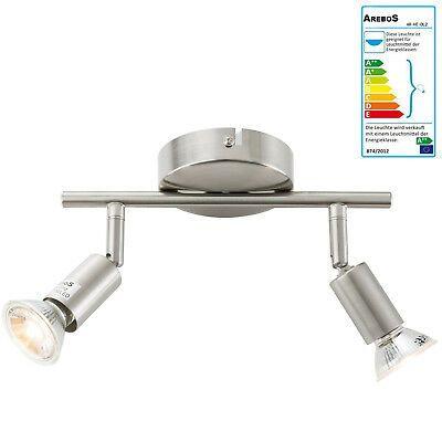 LED Spot Design Strahler Chrom Deckenleuchte Deckenlampe Wohnzimmer verstellbar