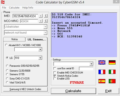 Unlock Code Calculator by CyberGSM v54  Calculate Unlock codes - debt reduction calculator