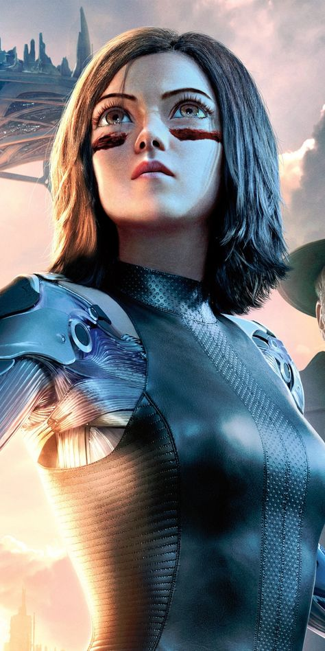 Alita: Battle Angel, Rosa Salazar, movie, actress, 1080x2160 wallpaper