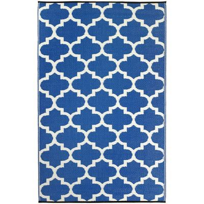 Found it at Wayfair - World Tangier Regatta Blue & White Indoor/Outdoor Area…