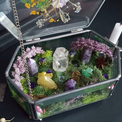 This sweet darling is ready to go home. Featuring Amethyst Crystal Quartz Suns This sweet darling is Crystal Room, Crystal Magic, Amethyst Crystal, Crystal Altar, Crystal Decor, Witch Aesthetic, Aesthetic Room Decor, Crystals And Gemstones, Stones And Crystals