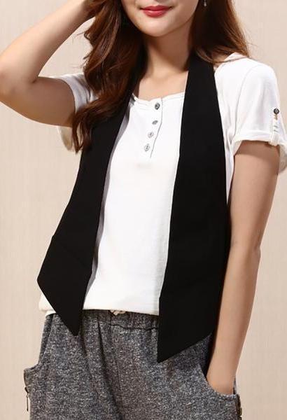 4f5856394 2018 cotton linen Waistcoats Women female short summer Slim thin ...