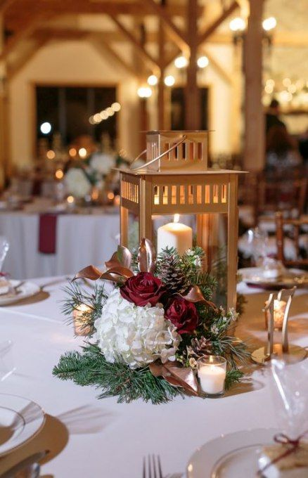 Best Wedding Table Decorations Winter Gold Ideas Wedding Winter Wedding Table Wedding Table Centerpieces Winter Wedding Table Decorations