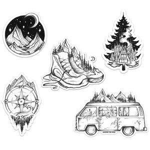 Black And White Stickers Nature Stickers Black Stickers