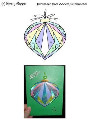 Iris Folding Bauble Ornament Pattern