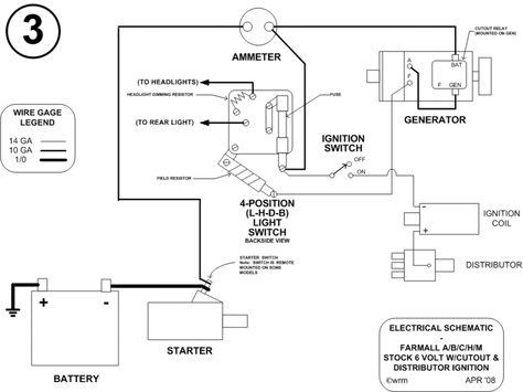 Farmall Wiring Schematic on farmall cub engine, 6 volt generator schematic, farmall 300 wiring diagram, 1942 farmall m electrical schematic, farmall 12 volt wiring diagram,