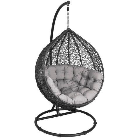 Lounge Hangesessel Graphit Schwarz Schaukelsessel Sesselschaukel