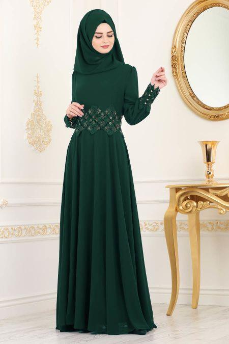 Nayla Collection Pullu Bordo Tesettur Abiye Elbise 90000br Tesetturisland Com Elbise Aksamustu Giysileri Indigo
