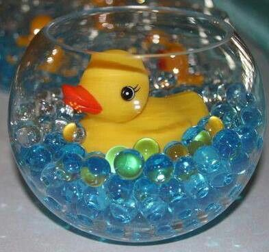 Blue Duck on Pink Glass