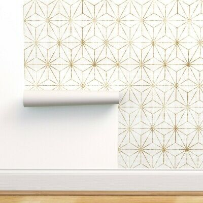 Peel And Stick Removable Wallpaper Geometric Abstract Stars Modern Star Ebay In 2020 Peel And Stick Wallpaper Wallpaper Panels Removable Wallpaper