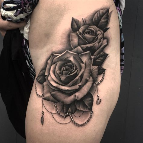 Pin By Jerry Gustavo On Clock Tattoos Rose Tattoos For Women Rose Tattoo Design Black Rose Tattoos