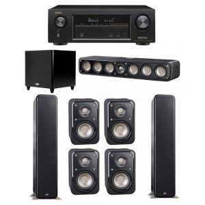 Polk Audio Signature 7 1 System With 2 S55 Tower Speaker Home Theater System Home Theater Speaker System Home Theater Sound System