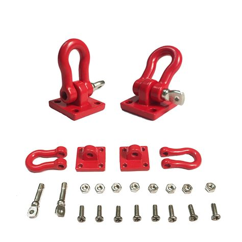 2Pcs New 1//10 Scale Trailer Hook Accessory For RC Crawler SCX-10 Truck Red d90