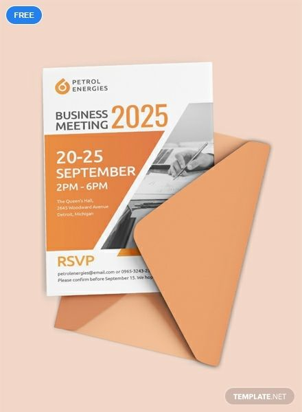Free Professional Business Meeting Invitation