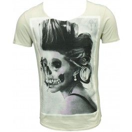 Pearly King Scoop Neck T-Shirt - Cream