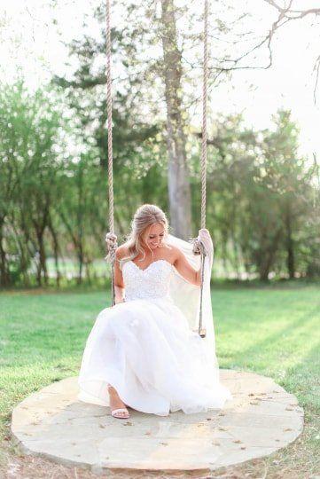 A Line Wedding Dress Idea With Strapless Neckline And Tulle Skirt Morgan Ravenscraft Photogra Wedding Dresses Top Wedding Dress Designers A Line Wedding Dress