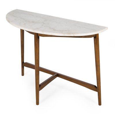 Phenomenal Belham Living James Half Round Mid Century Modern Marble Gamerscity Chair Design For Home Gamerscityorg