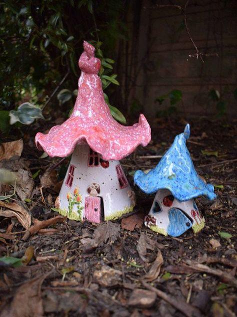 Photo of Items similar to Large Ceramic Fairy / Elf House – Frostproof on Etsy