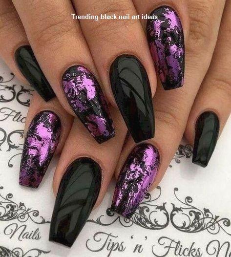 20 Simple Black Nail Art Design Ideas Naildesigns Nailartideas Purple Nail Designs Purple Nails Classy Nail Designs