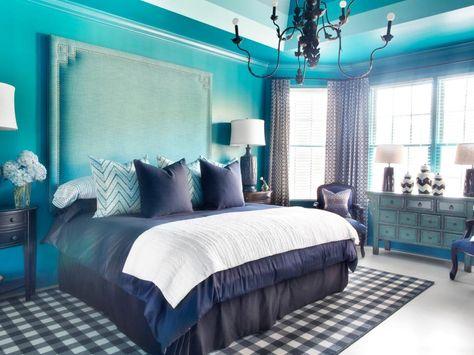 Mutige Und Elegante Schlafzimmer Blaue Schlafzimmerideen