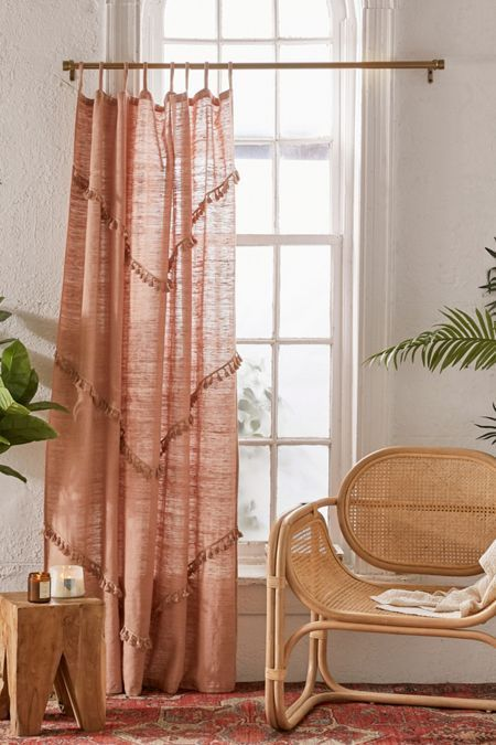 Meadowsweet Macrame Panel Moroccan Decor Living Room Curtains