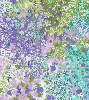 Home Essentials Decor Fabric Violet Pitter Patter Fabric Decor
