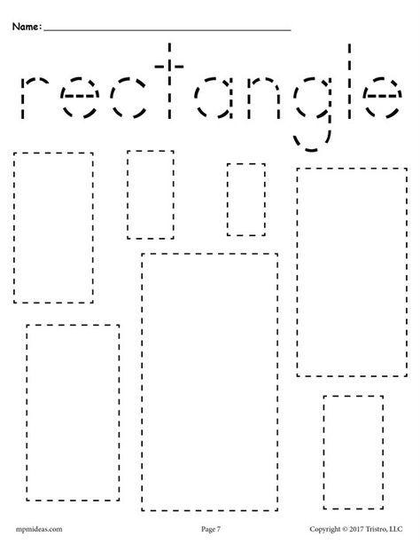 12 Shapes Tracing Worksheets Shape Tracing Worksheets Tracing