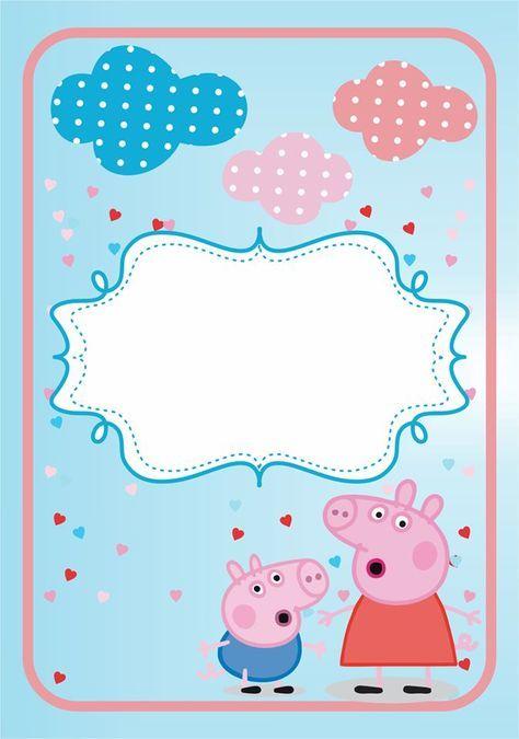 Convite Peppa Pig Prontos Para Imprimir Convite Peppa Pig