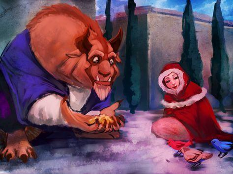 belle deviantart beauty and the beast | Belle and The Beast - beast Fan Art