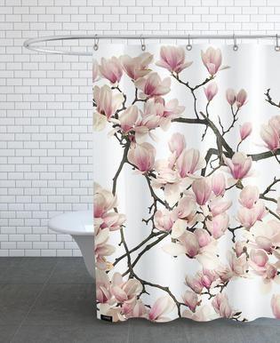 Flora Wilde Malve Als Duschvorhang Von Tan Kadam Juniqe Pink