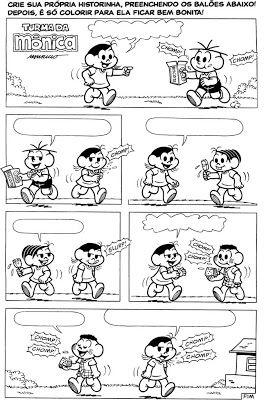 Alfabetizando Com Monica E Turma Historias Em Quadrinhos