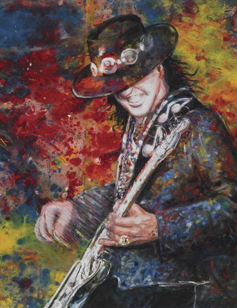 Pin By Cristina Cabana On Srv Art And Caricatures Musician Art Stevie Ray Vaughan Rock N Roll Art